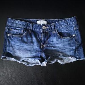 Express Frayed Jean Shorts